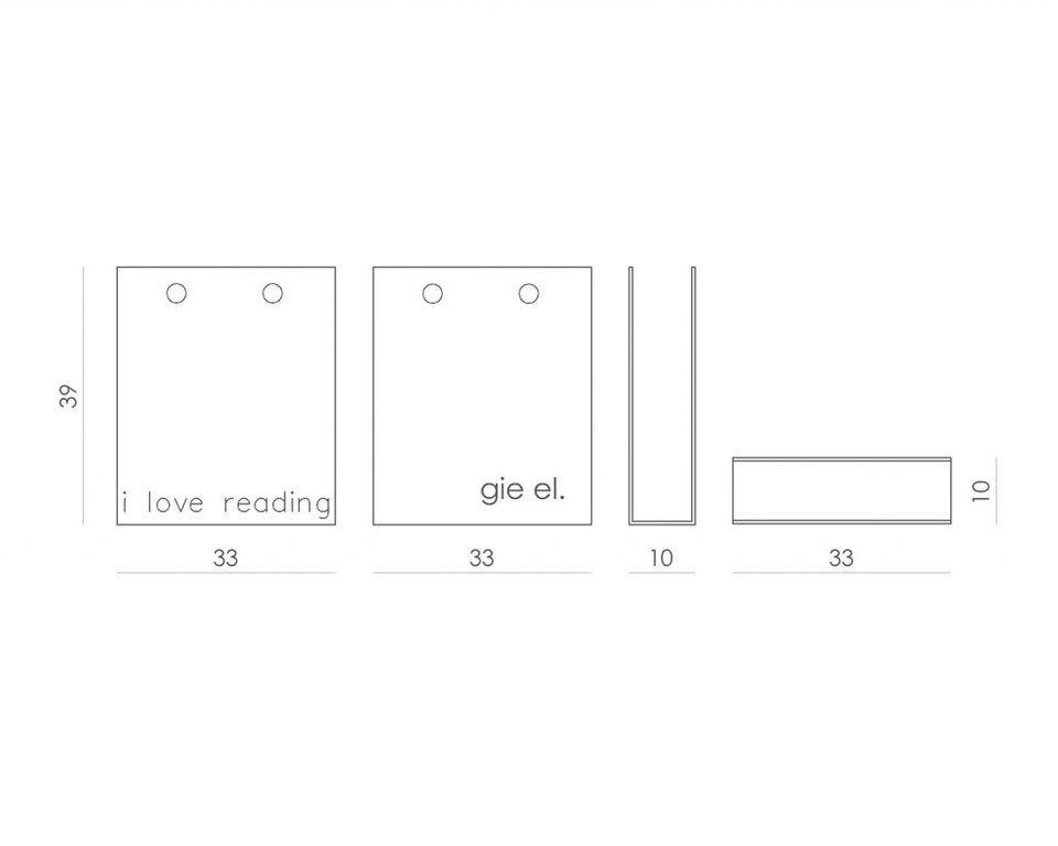 Gazetnik I LOVE READING czarny AMB0012 - Gie El