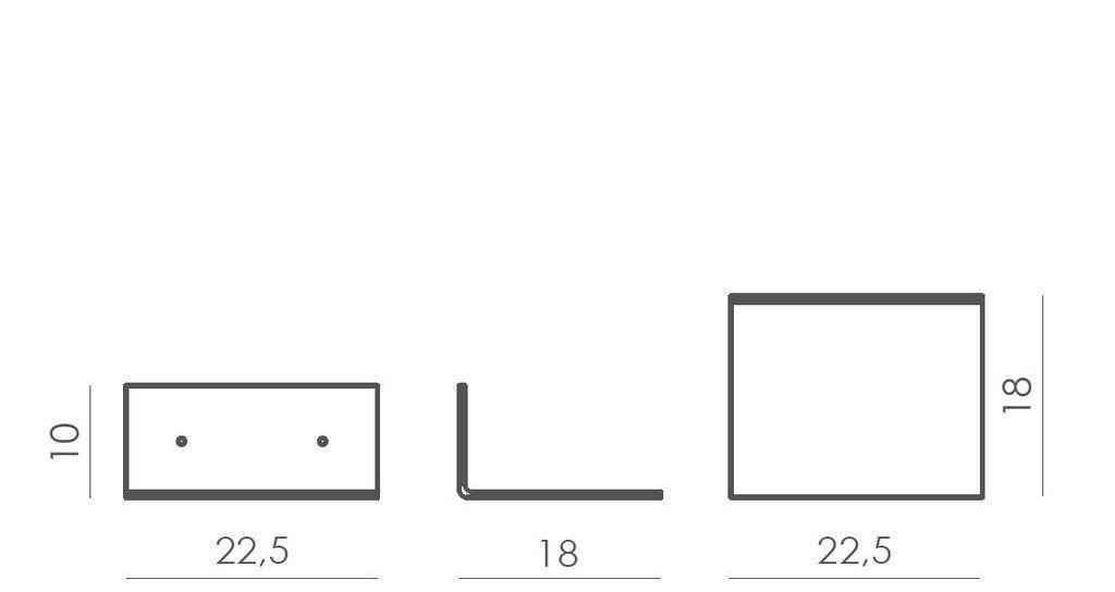 Półka stalowa PENGUIN biała ASH0031 - Gie El