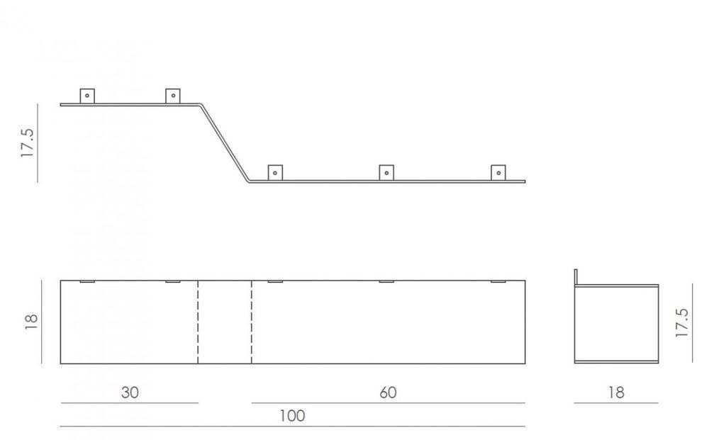 Półka stalowa Z biała ASH0051 - Gie El