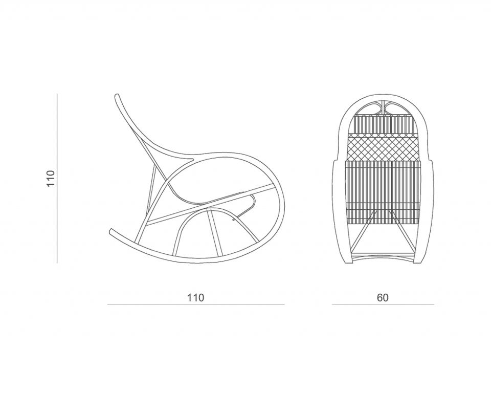 Fotel bujany wiklinowy SNAIL brązowy FST0070 - Gie El