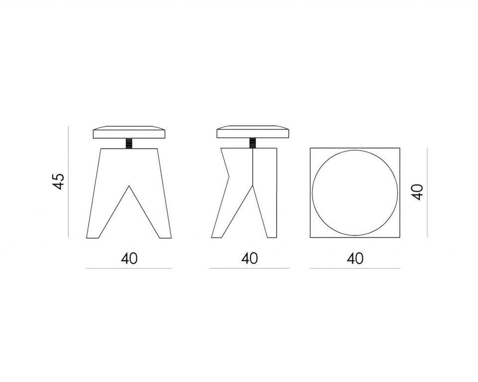 Obrotowy stołek na drewnianej bazie SWIVEL FST0130 - Gie El