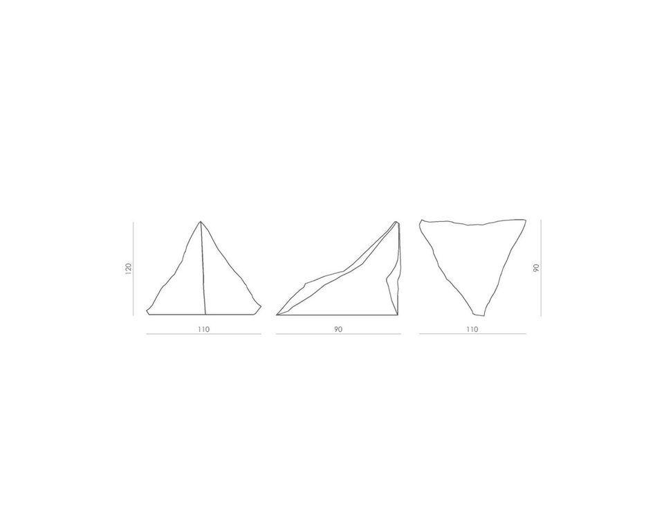 Puf lniany TRIANGLE beżowo-brązowy FST0180 - Gie El