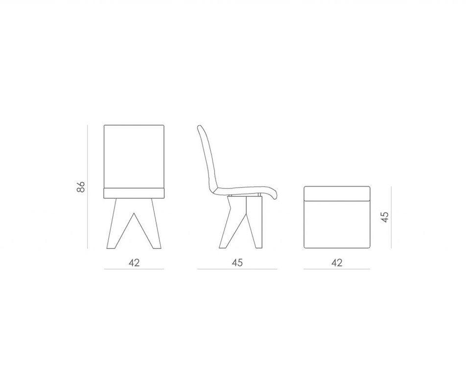Krzesło DEER na białej drewnianej bazie FST0190 - Gie El
