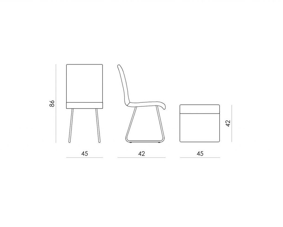 Krzesło z oparciem z gontów SHINGLE FST0163 białe - Gie El