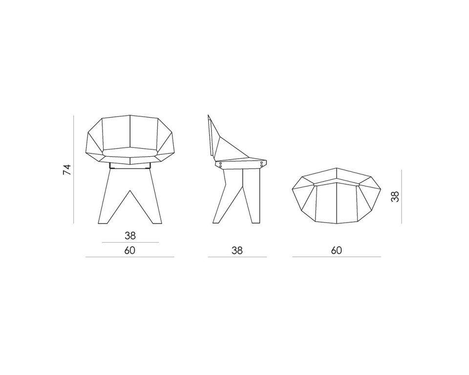Czarne stalowe krzesło na drewnianej bazie KNIGHT FST0310 - Gie El