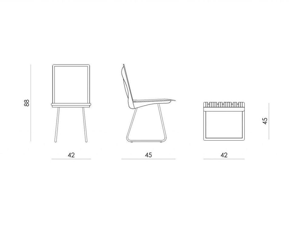 Krzesło do jadalni drewniane dębowe ORGANIQUE ciemnobrązowe FST0341 - Gie El