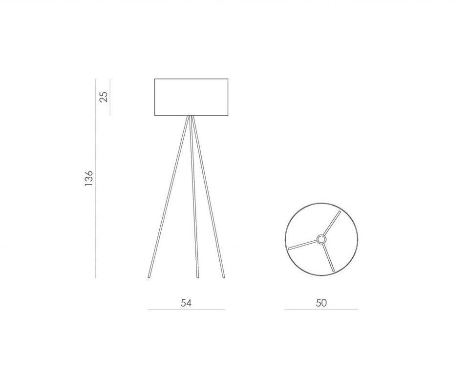 Lampa podłogowa TRINITY I szara LGH0520 - Gie El