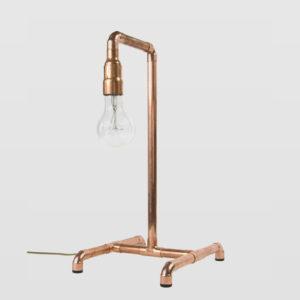 Lampa stołowa miedziana z rurek LANTERN IV LGH0030 - Gie El