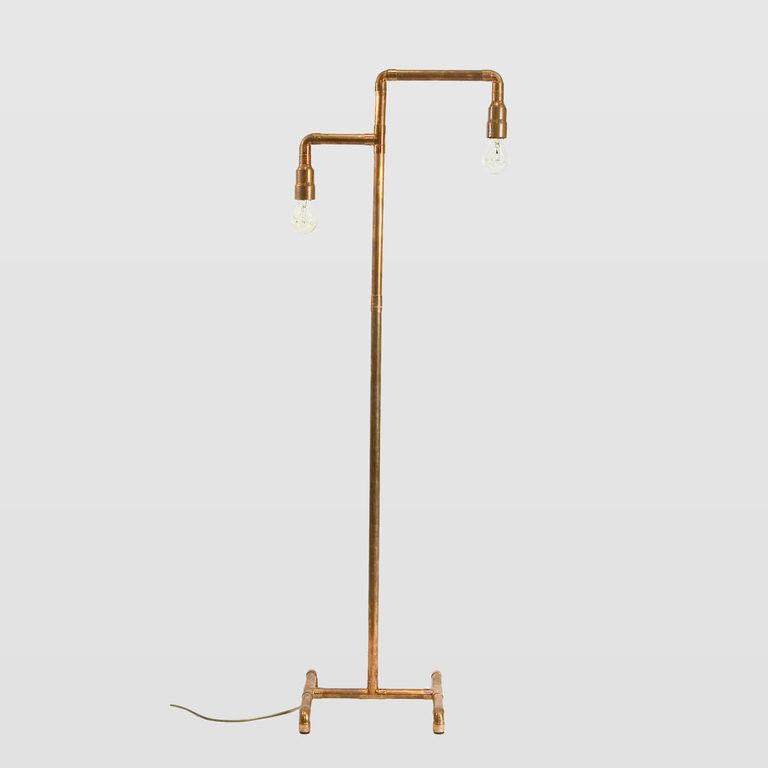 Miedziana lampa podłogowa LANTERN III LGH0031 - Gie El