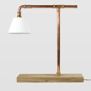 Lampa stołowa miedziana z rurek z abażurem LANTERN II LGH0040 - Gie El