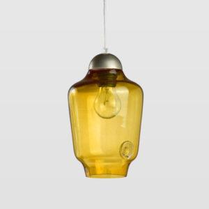 Lampa wisząca szklana BEE small miodowa LGH0060 - Gie El