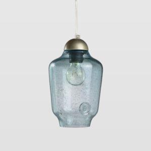 Lampa wisząca szklana BEE small turkusowa LGH0061 - Gie El