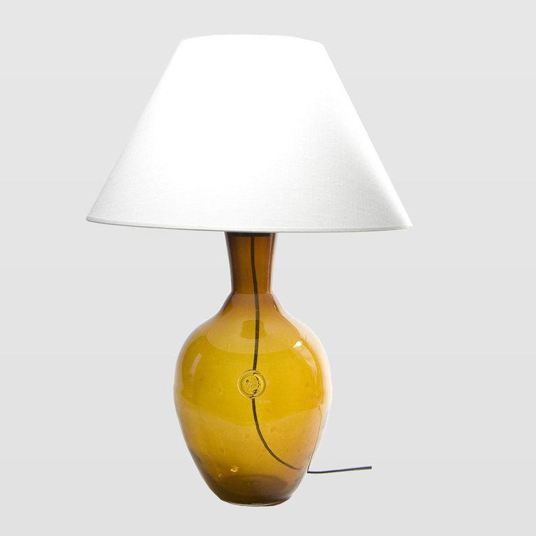 Lampa stołowa szklana miodowa z abażurem RAFAELLO LGH0070 - Gie El