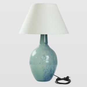 Lampa stołowa szklana turkusowo-zielona z abażurem RAFAELLO LGH0073 - Gie El