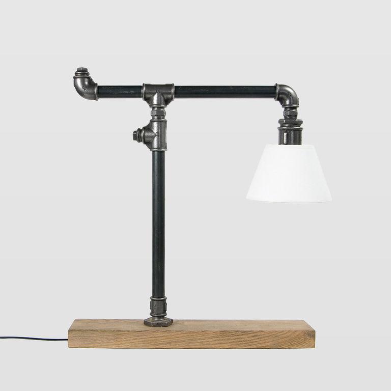 Lampa stołowa stalowa LANTERN czarna z abażurem LGH0080 - Gie El