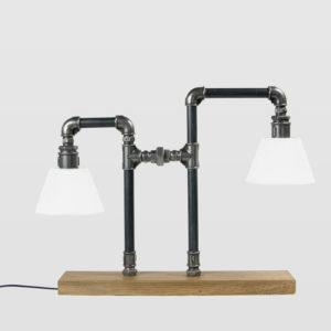 Lampa stołowa stalowa LANTERN czarna z abażurami LGH0090 - Gie El