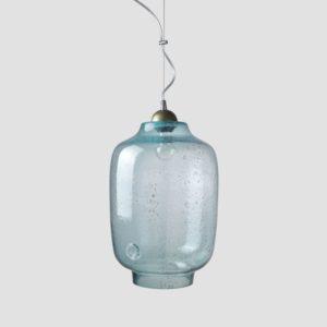Lampa wisząca szklana BEE turkusowa LGH0101 - Gie El