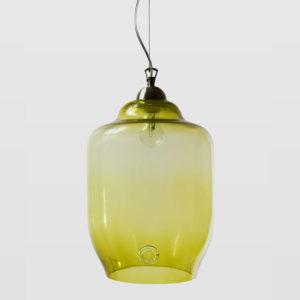 Lampa wisząca szklana BEE oliwkowa LGH0102 - Gie El