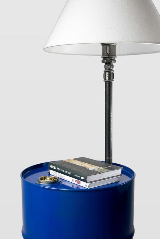Lampa podłogowa stalowa BARREL granatowa LGH0150 - Gie El