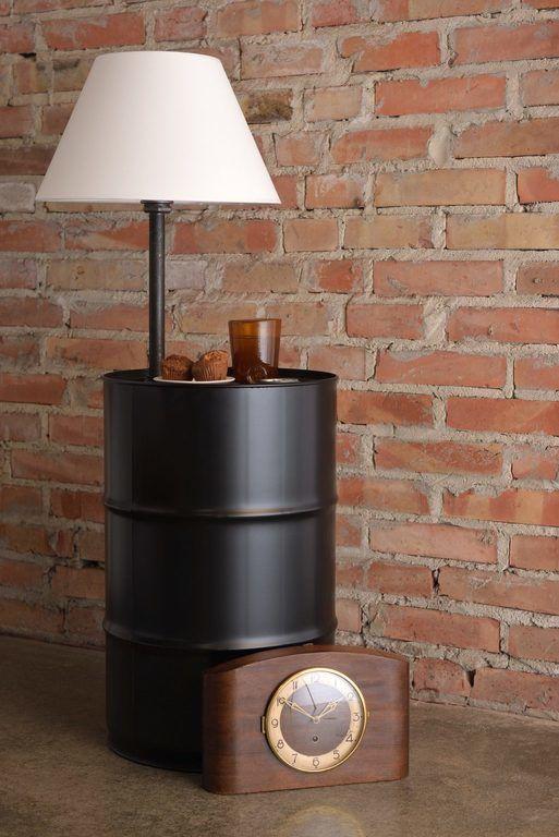 Lampa podłogowa stalowa BARREL czarna LGH0151 - Gie El