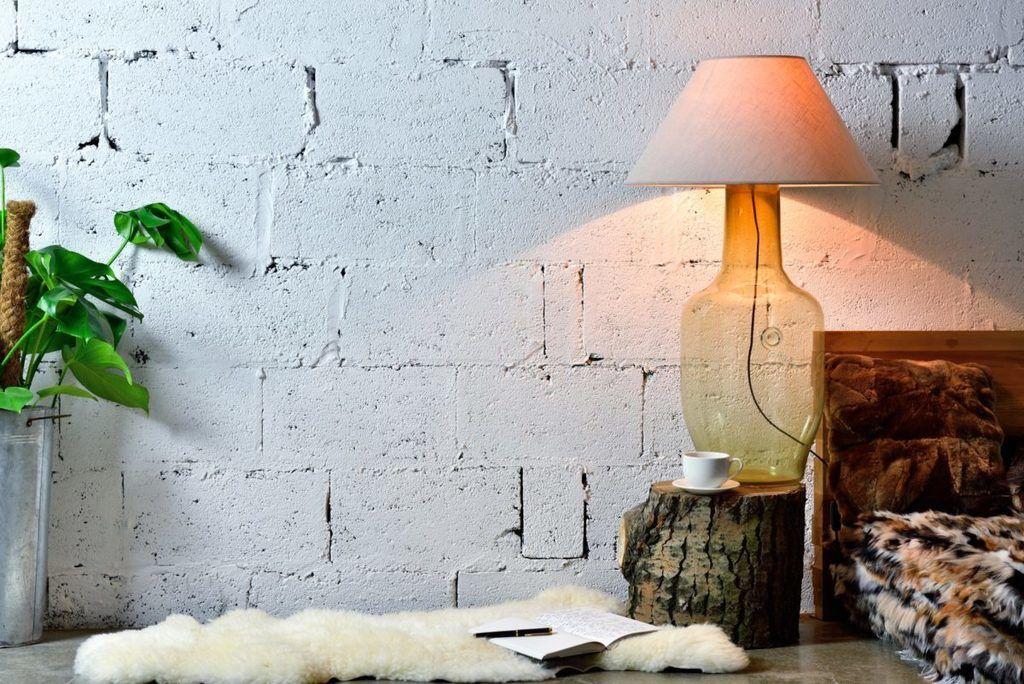 Szklana lampa stołowa LGH0180 Gie El