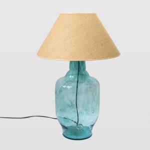 Lampa stołowa szklana miodowa z abażurem BEE LGH0180 - Gie El - Gie El