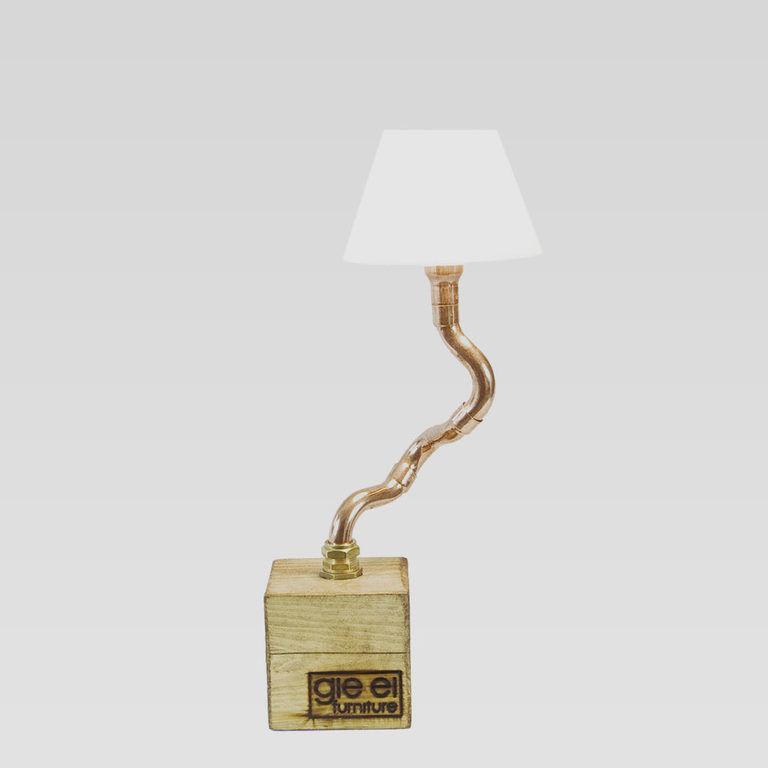 Lampa stołowa miedziana z abażurem BONZAI I LGH0211 - Gie El