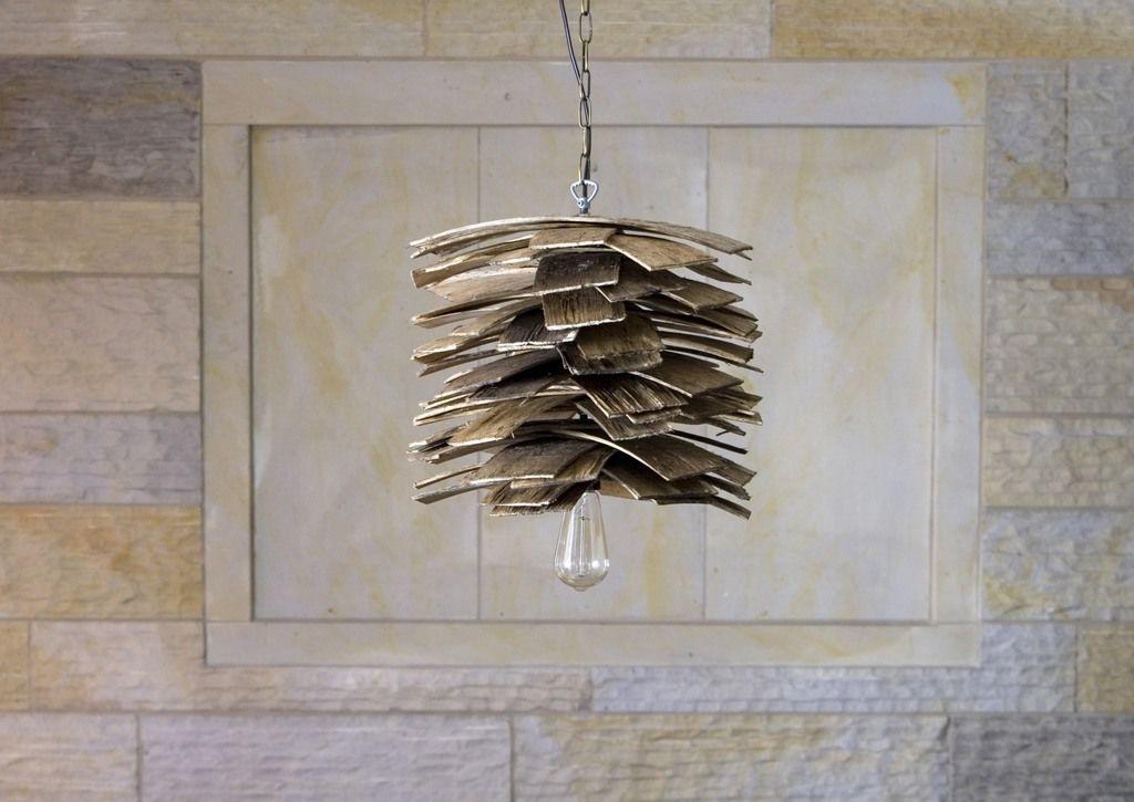 Lampa wisząca drewniana SHINGLE LGH0241 - Gie El