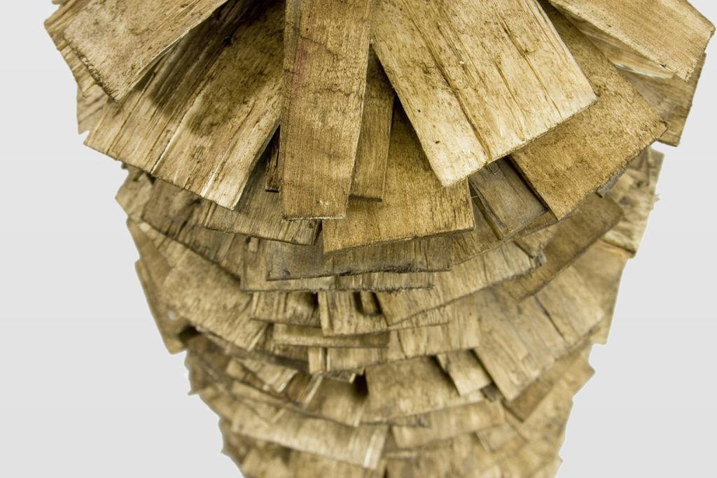 Lampa podłogowa drewniana SHINGLE big LGH0243 - Gie El