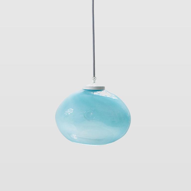 Glass pendant lamp MEDUSE pastel turquoise LGH0251 » Gie El