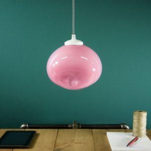 Lampa wisząca szklana MEDUSE royal pink LGH0252 - Gie El