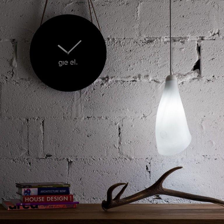 Lampa wisząca szklana HORN biała LGH0260 - Gie El