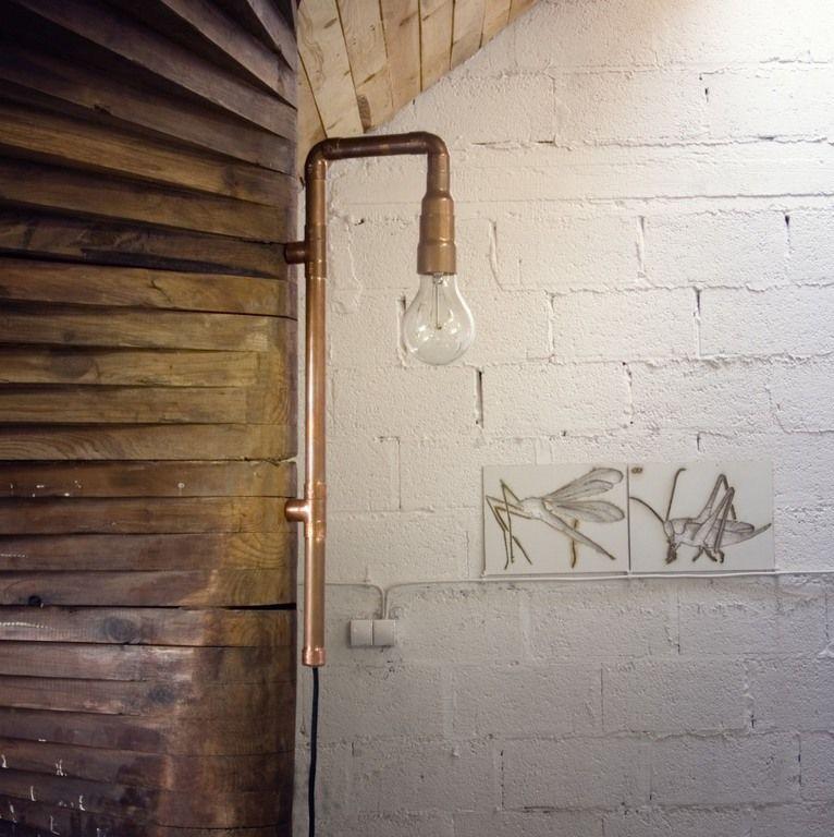 Lampa ścienna miedziana z rurek WAND LGH0270 - Gie El
