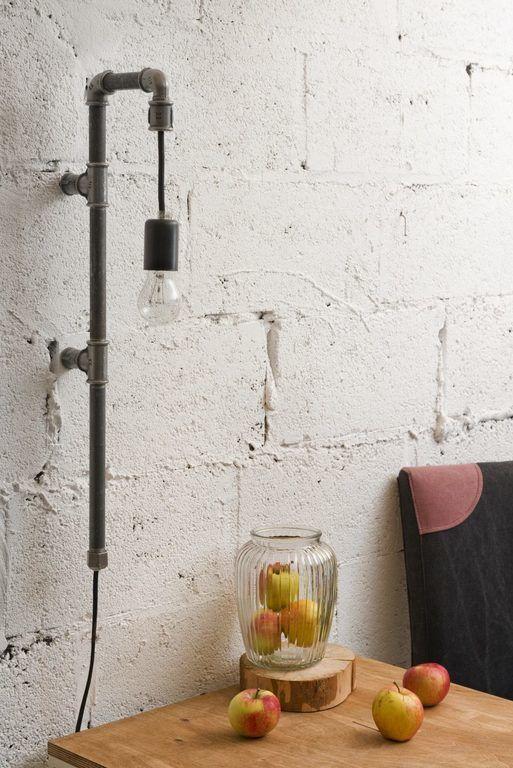 Lampa ścienna stalowa z rurek WAND czarna LGH0280 - Gie El