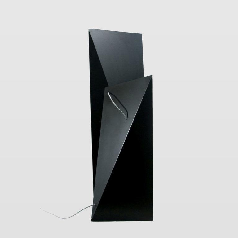 Lampa podłogowa stalowa TOWER BIG czarna LGH0360 - Gie El