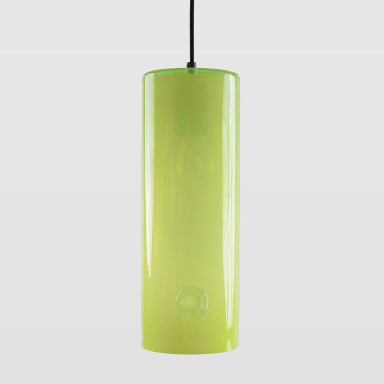 Lampa wisząca szklana NEO III limonkowa LGH0401 - Gie El