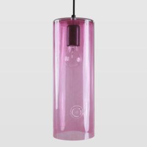 Lampa wisząca szklana NEO III różowa LGH0402