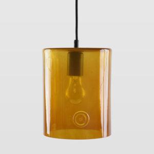 Lampa wisząca szklana NEO II miodowa LGH0410 - Gie El