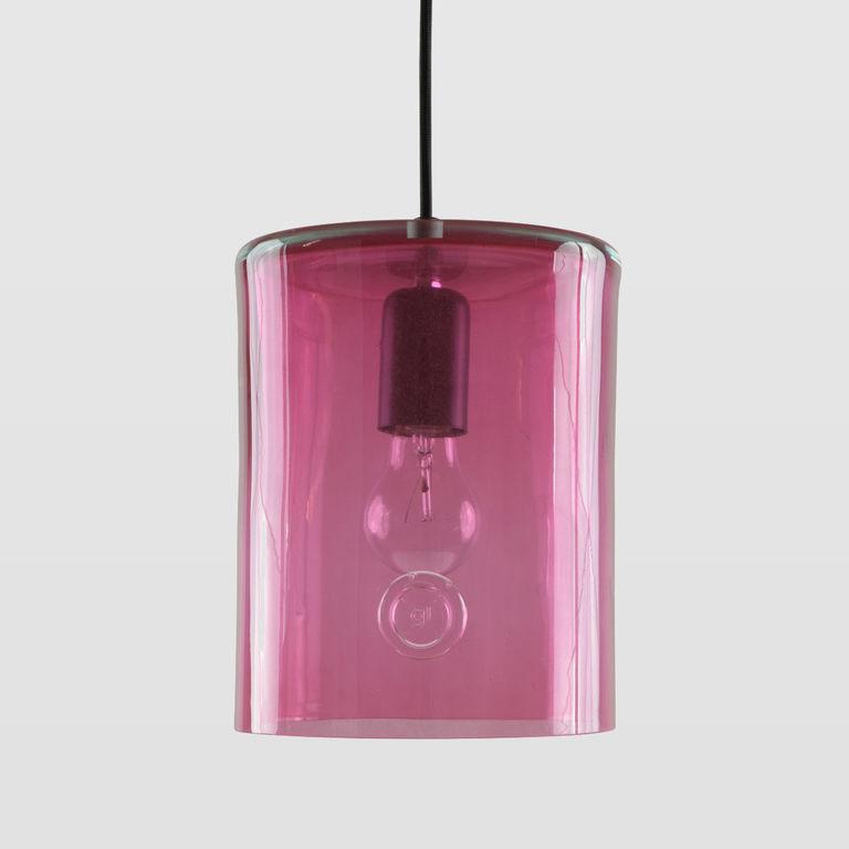 Lampa wisząca szklana NEO II różowa LGH0412 - Gie El
