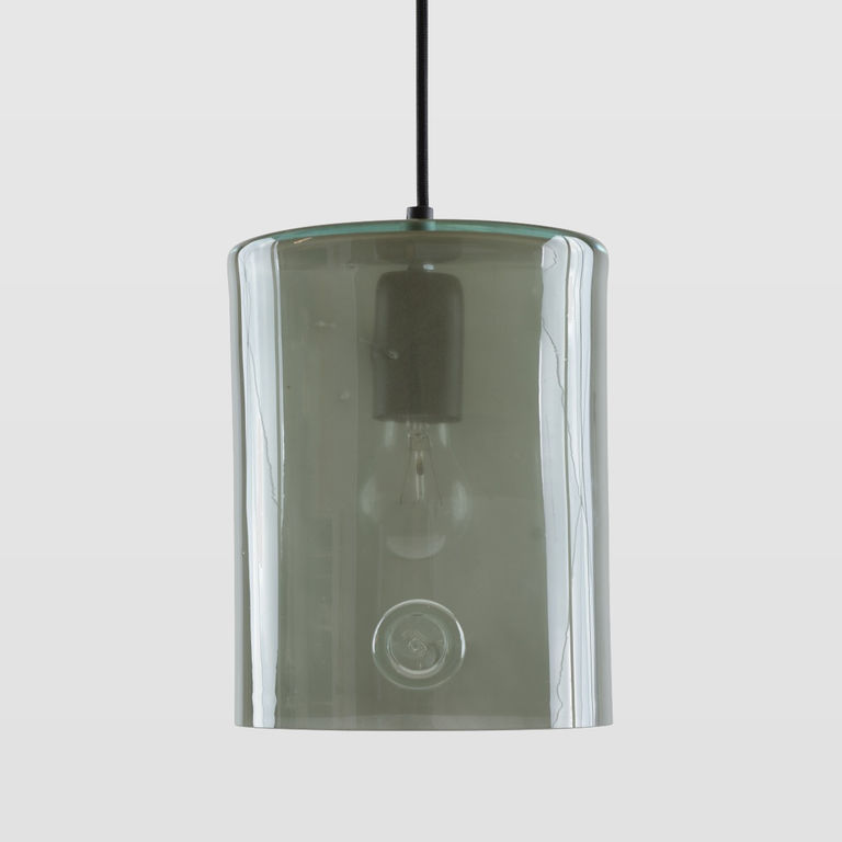 Lampa wisząca szklana NEO II szara LGH0413 - Gie El