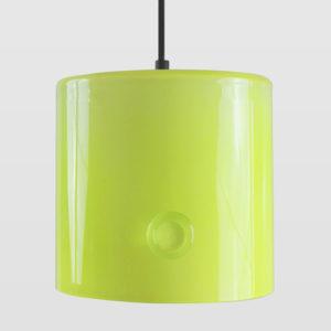 Lampa wisząca szklana NEO I limonkowa LGH0421 - Gie El