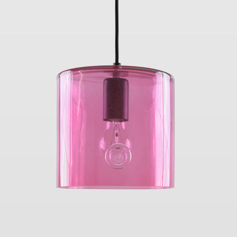 Lampa wisząca szklana NEO I różowa LGH0422 - Gie El