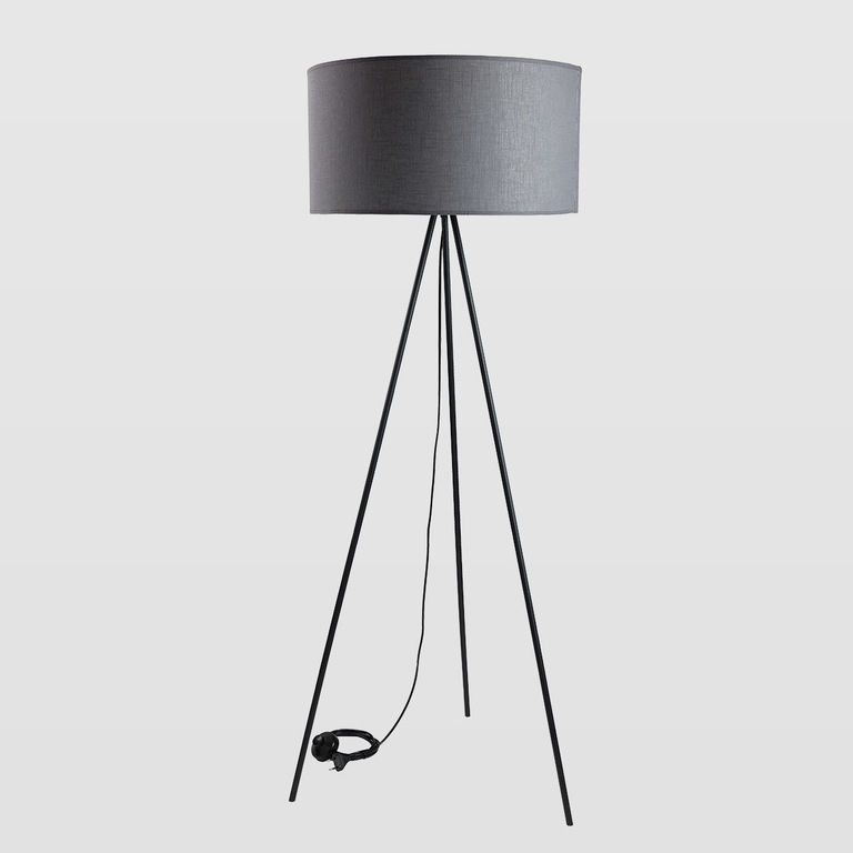 floor lamp gray lampshade LGH0520