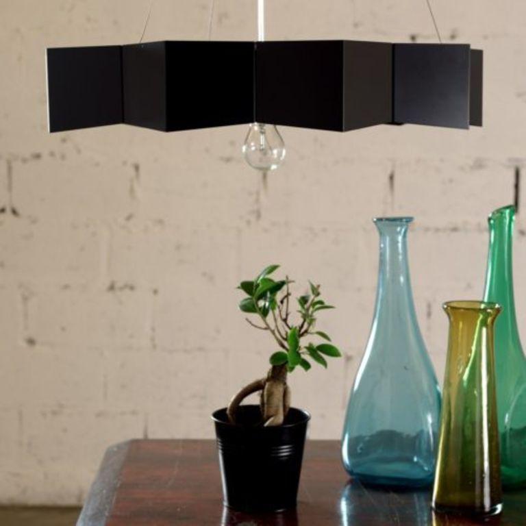 Black metal lamp LGH0530
