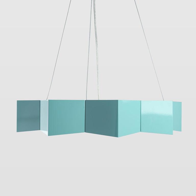 Turquoise pendant lamp LGH0533