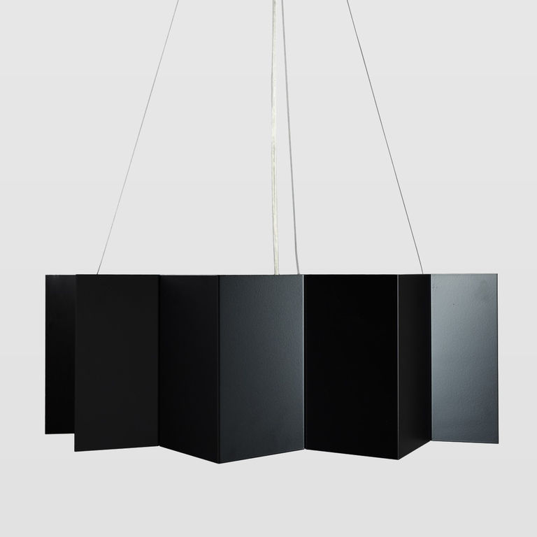 Black metal lamp LGH0540