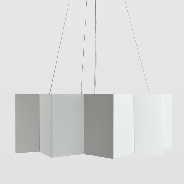 White metal lamp LGH0541