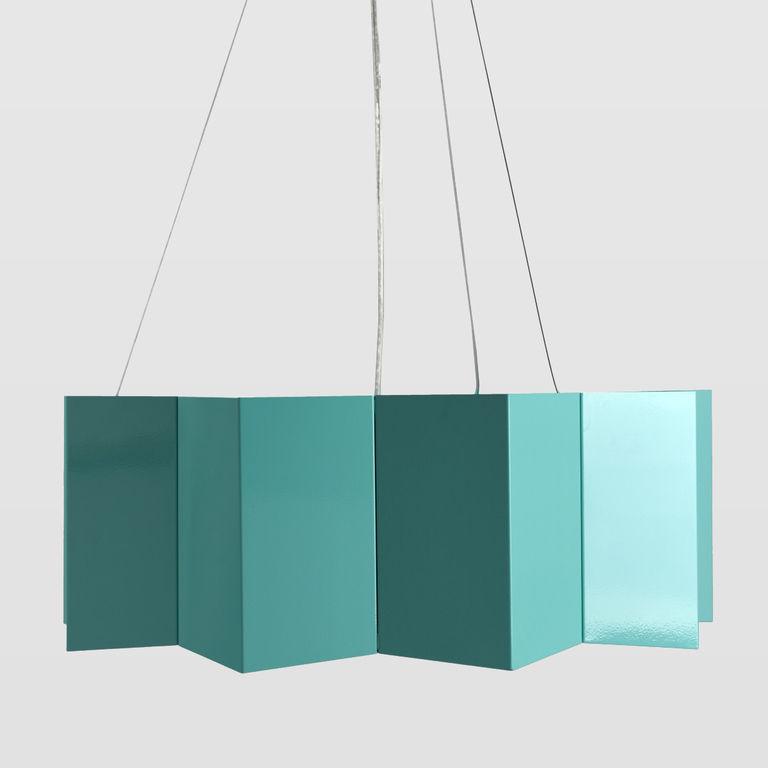 Steel pendant lamp BIG STAR turquoise LGH0543 » Gie El