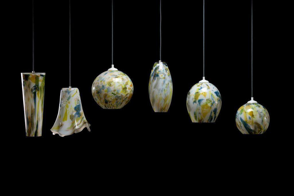 Gie El lampy wiszące nowoczesne oświetlenie szkło Pafil