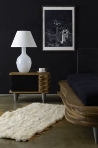 Lampa stołowa szklana biała z abażurem RAFAELLO LGH0075 - Gie El